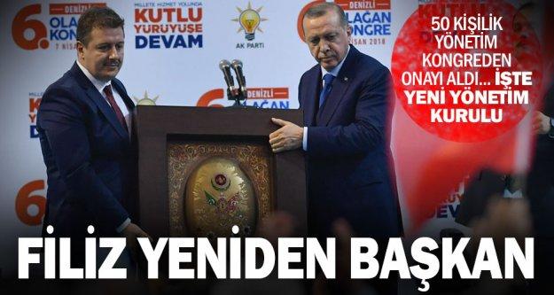 Ak Parti'de Necip Filiz yeniden başkan