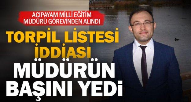Atama listesi iddiası müdürü koltuğundan etti