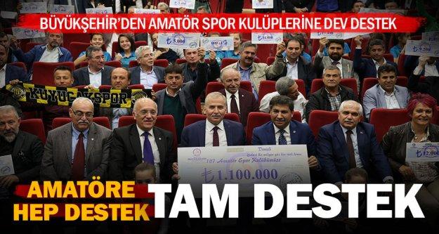 Büyükşehir'den amatör kulüplere 1 milyon 100 bin liralık destek
