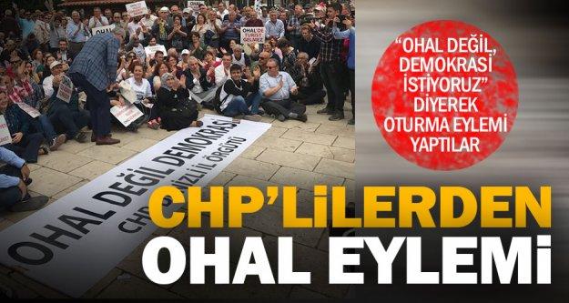 CHP'lilerden Bayramyeri'nde OHAL eylemi