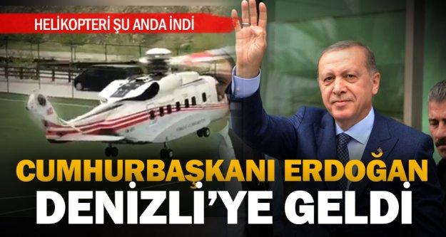 Cumhurbaşkanı Erdoğan, Denizli'ye geldi