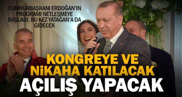 Cumhurbaşkanı Erdoğan, nikaha ve kongreye katılıp, Yatağan'da açılış yapacak