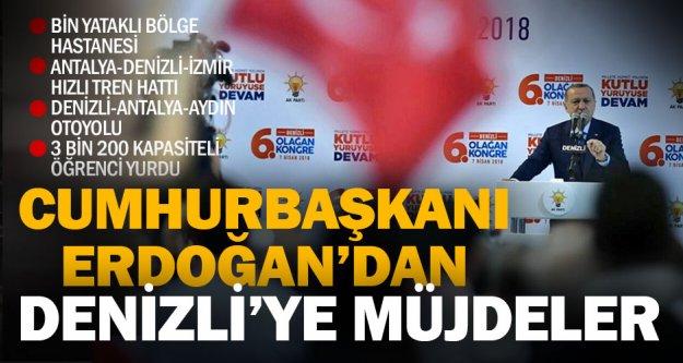 Cumhurbaşkanı Erdoğan'dan Denizli'ye önemli müjdeler