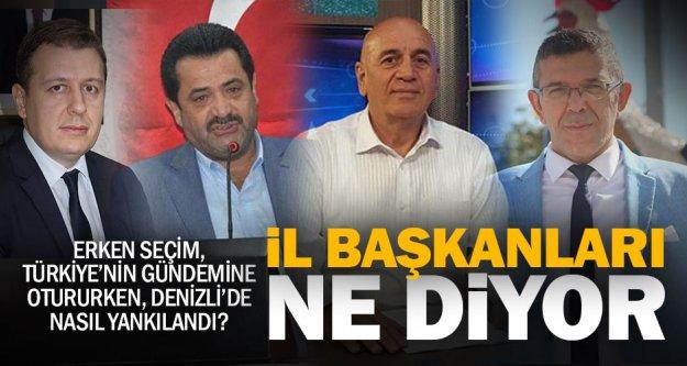 Denizli'de parti il başkanları erken seçimi değerlendirdi