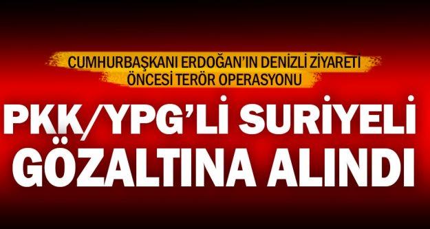 Denizli'de terör operasyonu: 1 gözaltı