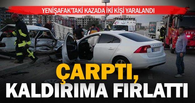 Yenişafak'taki kazada iki kişi yaralandı