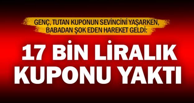 Baba, 17 bin lira kazanan bahis kuponunu yaktı iddiası