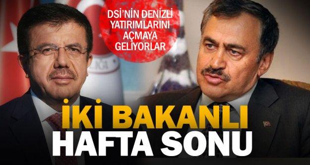 Bakan Eroğlu ve Zeybekci Denizli'ye geliyor