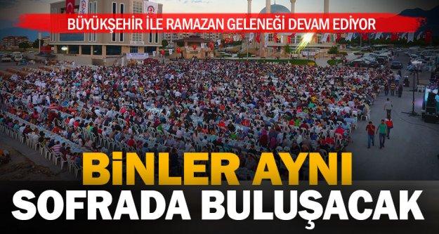 Büyükşehir ile Ramazan geleneği devam ediyor