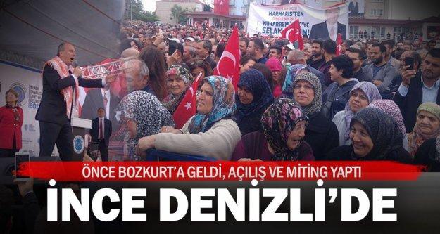 CHP Cumhurbaşkanı adayı Muharrem İnce Denizli'de