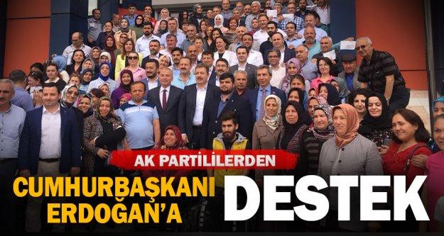 Denizli Ak Parti'den Cumhurbaşkanı Erdoğan'a destek