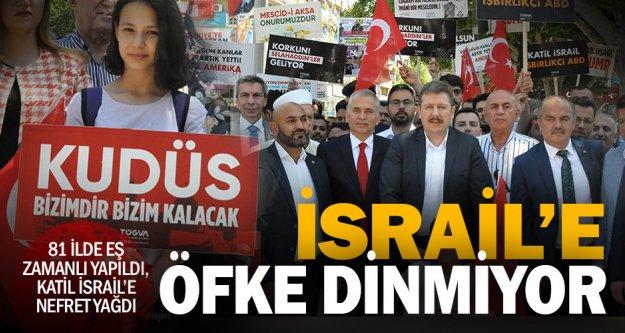 Denizli'de İsrail protestosu