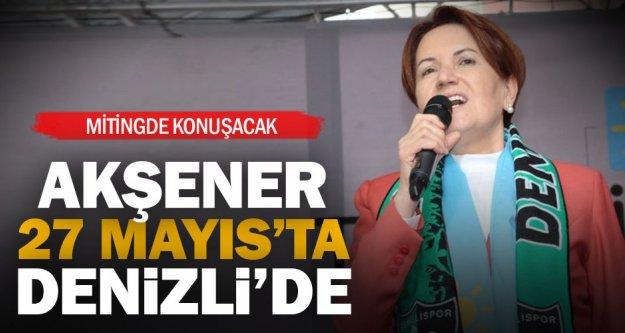 İYİ Parti Cumhurbaşkanı Adayı Akşener Denizli'ye geliyor