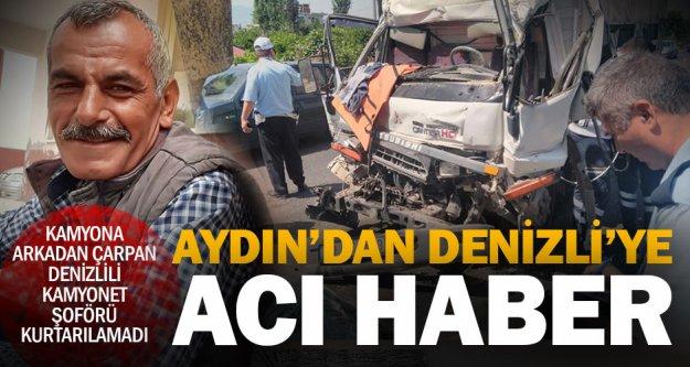 Nazilli'deki trafik kazasından Denizli'ye acı haber