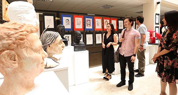 PAÜ Eğitim Fakültesi'nden karma heykel sergisi