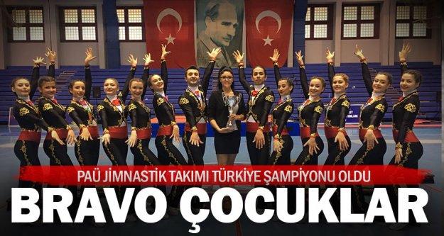 PAÜ Jimnastik Takımı Türkiye Şampiyonu oldu