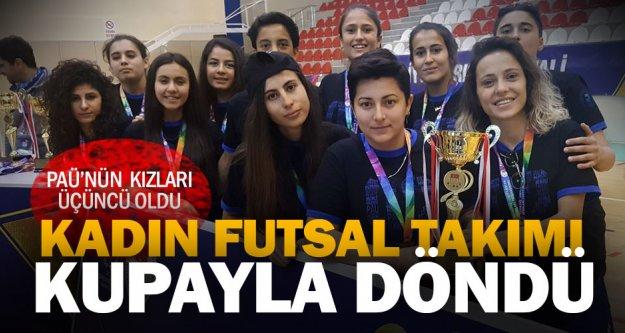 PAÜ Kadın Futsal Takımı 3'ncü oldu