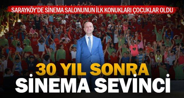Sarayköy tam 30 yıl sonra sinemaya kavuştu