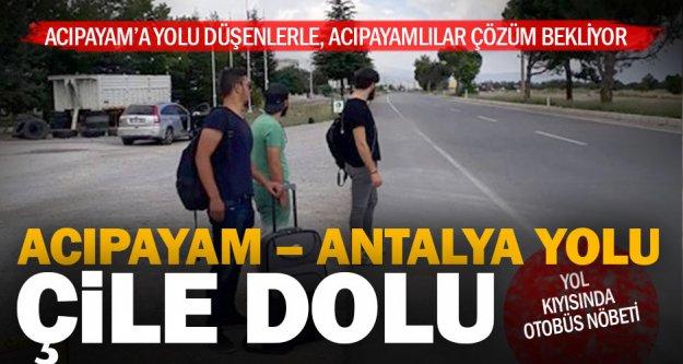 Acıpayam - Antalya yolcuları çözüm bekliyor