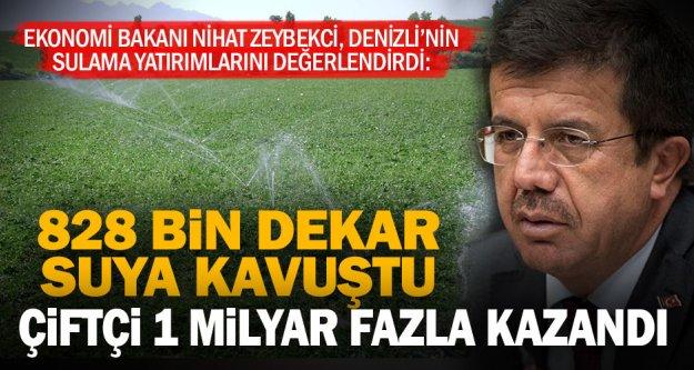 """Bakan Zeybekci: Denizli 3 milyar liralık yatırımla suya ve fidana 'doydu"""""""