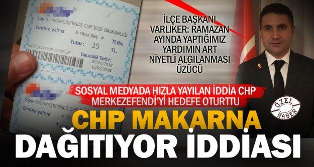 CHP'nin yardım çeki, seçim rüşvetidir, iddiası ortalığı karıştırdı