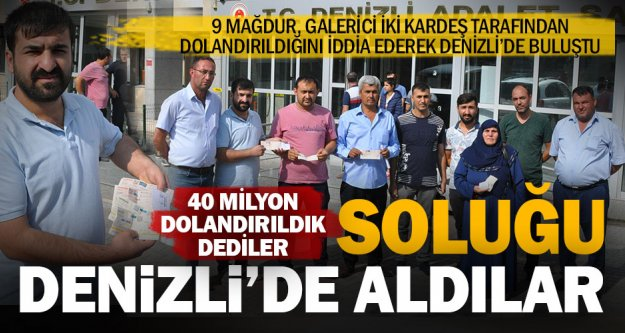 Galerici iki kardeş 40 milyon lira dolandırdı iddiası