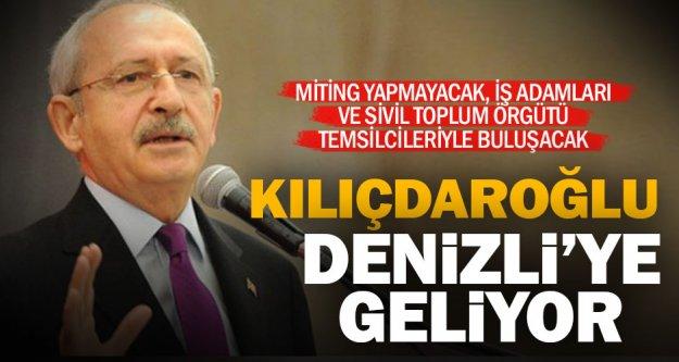 Kılıçdaroğlu 6 Haziran'da Denizli'ye geliyor