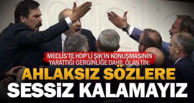Ak Partili Tin'den HDP'li Şık'ın sözlerine sert tepki