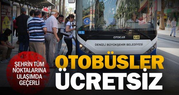 Büyükşehir otobüsleri 15 Temmuz'a özel ücretsiz