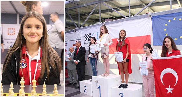 Ceylin, satrançta Avrupa 3'ncüsü oldu