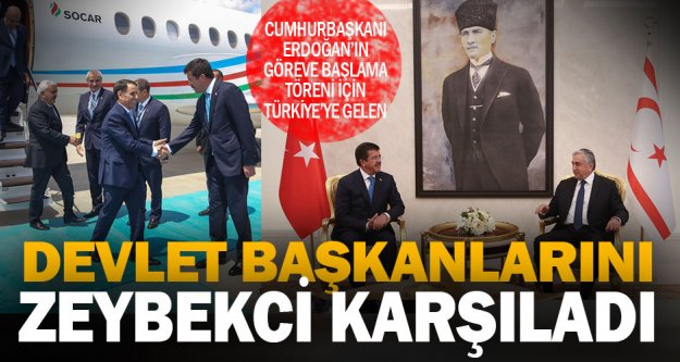 Devlet başkanlarına Zeybekci karşılaması