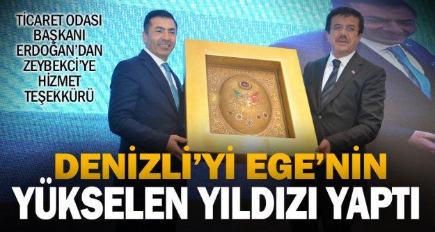Erdoğan, Zeybekci'ye hizmetlerinden dolayı teşekkür etti