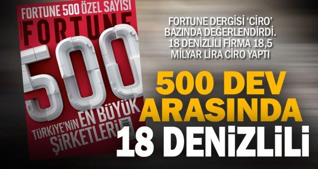 Fortune 500 listesinde 18 Denizlili firma