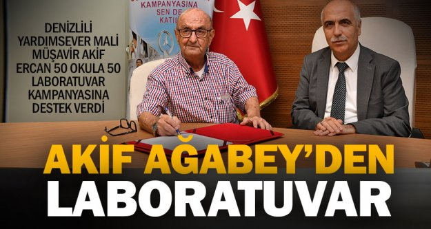 Hayırsever Akif Ercan'dan okula laboratuvar desteği