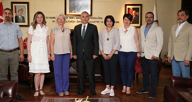 İş dünyası temsilcilerinden Başkan Zolan'a ziyaret