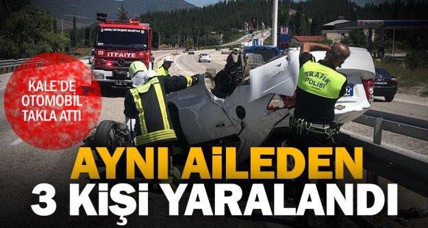 Kale'de otomobil takla attı: 3 yaralı