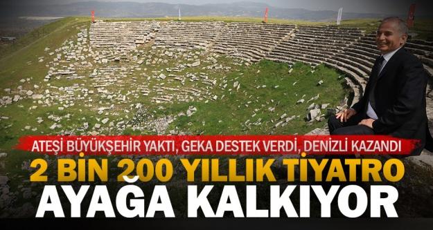 Kalkınma ajansı Büyükşehir'in Laodikya tiyatrosu restorasyonuna destek verdi