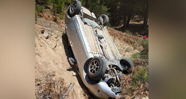 Otomobil dereye uçtu, 1 kişi yaralandı