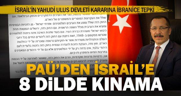 PAÜ, İsrail'in Yahudi Ulus Devleti kararını 8 dilde kınadı