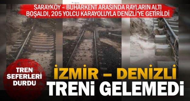 Rayların altı boşaldı, İzmir Denizli treni gelemedi; seferler durdu