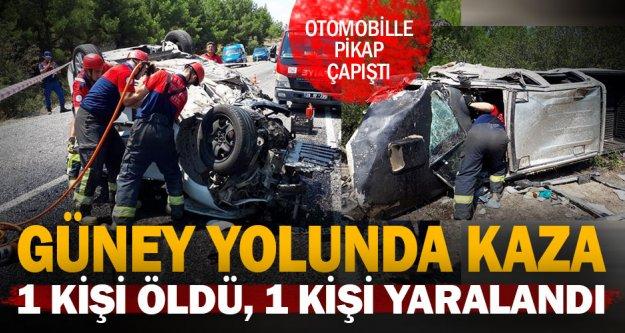 Buldan – Güney yolunda kaza: 1 ölü 2 yaralı