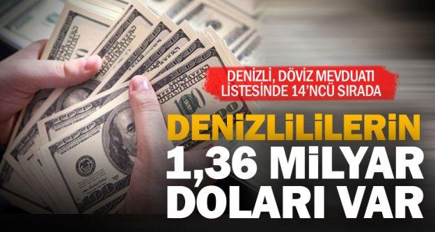 Denizlililerin bankalarda 1 milyar 366 milyon 323 bin doları var