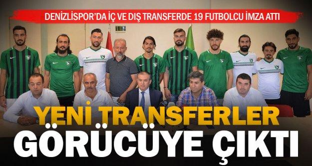 Denizlispor'da yeni transferler görücüye çıktı
