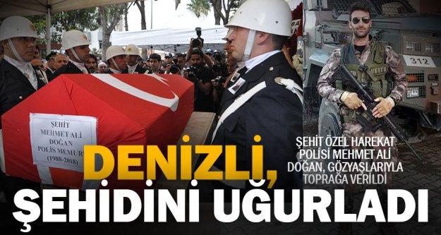 Şehit polis, gözyaşlarıyla toprağa verildi