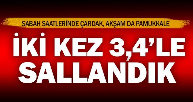 Denizli'de aynı günde 3.4'lük iki deprem