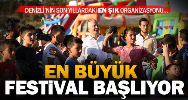 Denizli'nin en büyük festivali başlıyor