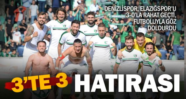 Denizlispor: 3 - Elazığspor: 0