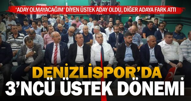 Denizlispor'da kongre sonucu: Üstek yeniden başkan