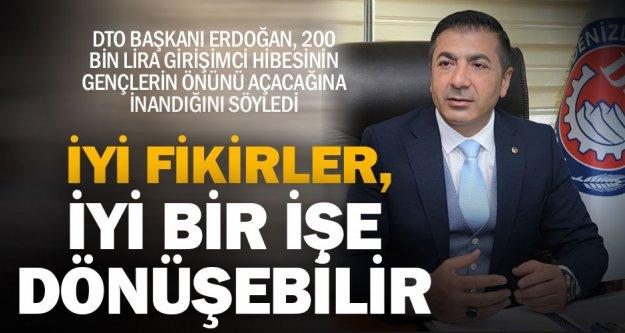 DTO Başkanı Uğur Erdoğan'dan, yenilikçi gençlere çağrı
