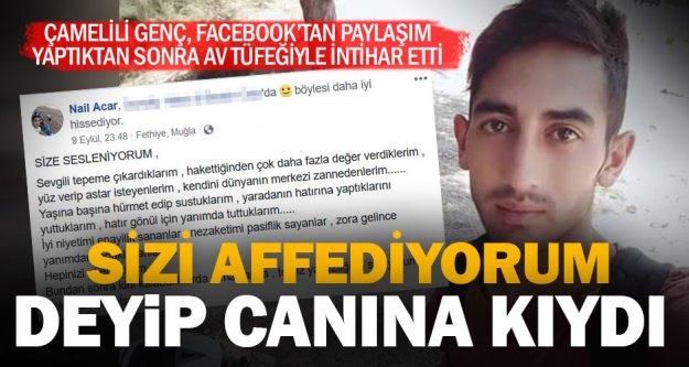 Facebook'tan sizi affediyorum, mesajı paylaşan genç intihar etti